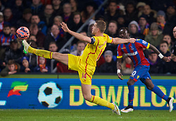 LONDON, ENGLAND - Saturday, February 14, 2015: Liverpool's Jordan Henderson in action against Crystal Palace during the FA Cup 5th Round match at Selhurst Park. (Pic by David Rawcliffe/Propaganda)
