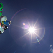 Xiujuan Xu, China, in action during the Women's Half Pipe Finals in the LG Snowboard FIS World Cup, during the Winter Games at Cardrona, Wanaka, New Zealand, 28th August 2011. Photo Tim Clayton..