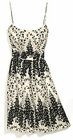 Ann Taylor sundress with black leaf pattern