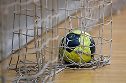 A ball at practice session of handball team Slovenia before the match against Germany, on May 01, 2017 in Vojasnica Edvarda Peperka, Ljubljana, Slovenia. Photo by Matic Klansek Velej / Sportida