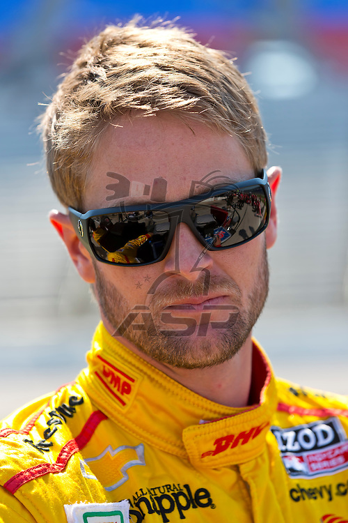 Ft WORTH, TX - JUN 08, 2012:  Ryan Hunter-Reay (28) prepares to qualify for the Firestone 550 race at the Texas Motor Speedway in Fort Worth, TX.