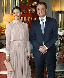 April 26, 2018 - Stockholm, Sweden - Crown princess Victoria .Audience with Speaker of the Croatian Parliament H.E. Mr Gordan Jandroković, Royal Palace, Stockholm, 2018-04-26.(c) Ola Axman / IBL BildbyrÃ¥..Företräde för Kroatiens talman H.E. Mr Gordan Jandroković, Kungliga slottet, 2018-04-26. (Credit Image: © Ola Axman/IBL via ZUMA Press)
