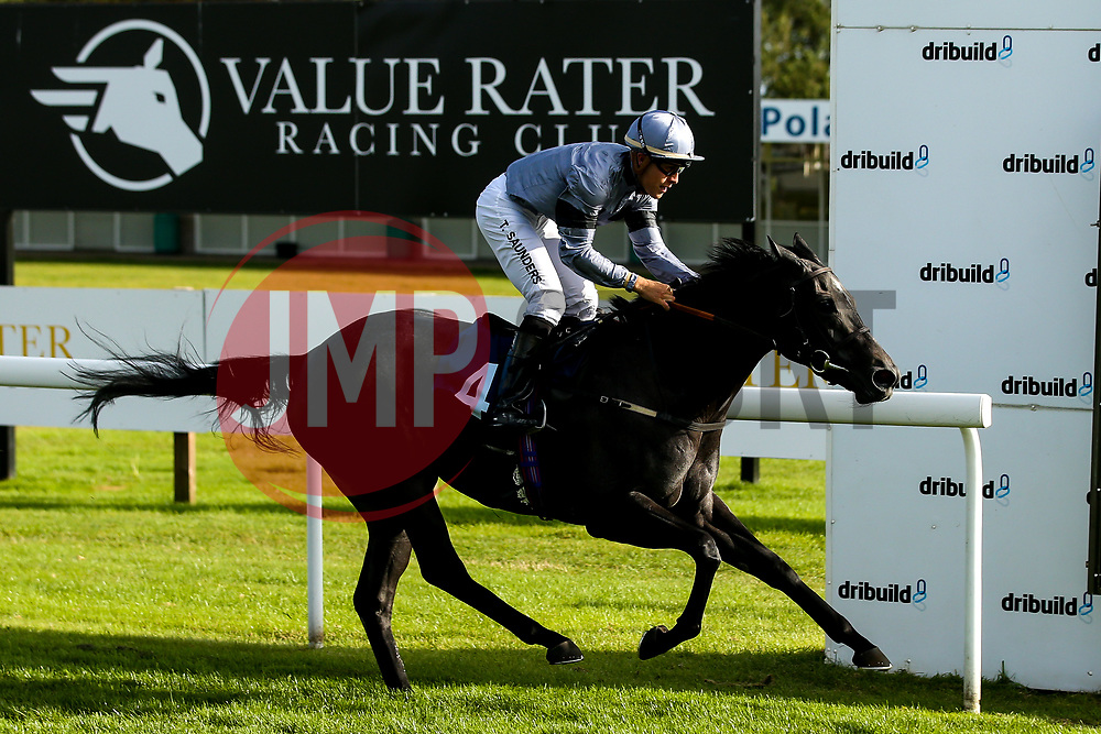 Devils Roc ridden by Tyler Saunders trained by Jonathan Portman wins The Empire Fighting Chance Winners Apprentice Handicap Stakes (Class 5) (Racing Excellence Training Series) (Bath Summer Sprint Qualifier) - Mandatory by-line: Robbie Stephenson/JMP - 04/09/2019 - PR - Bath Racecourse - Bath, England - Bath Races