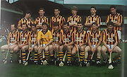 Kilkenny-All-Ireland Hurling Champions 1992. Back Row: Michael Phelan, Pat Dwyer, Liam Simpson, John Power, Eamonn Morrissey, Pat O'Neill. Front Row: Eddie O'Connor, Willie O'Connor, D J Carey, Michael Walsh, Liam McCarthy, Liam Fennelly (capt), Bill Hennessy, Jamesy Brennan, Liam Walsh.
