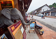 Laos. Luang Prabang. Elephant village office.
