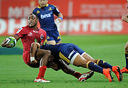 Chris Kuridrani in action for the Reds, Investec Super Rugby - Highlanders v Reds 27 February 2015, Forsyth Barr Stadium, Dunedin, New Zealand. Photo: New Zealand. Photo: Richard Hood/www.photosport.co.nz
