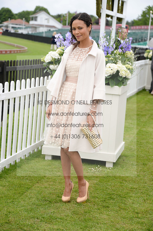 THANDIE NEWTON at the 2013 Cartier Queens Cup Polo at Guards Polo Club, Berkshire on 16th June 2013.