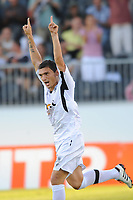 FOOTBALL - FRENCH LEAGUE CUP 2010/2011 - 1ST ROUND - SCO ANGERS v SC BASTIA - 30/07/2010 - PHOTO PASCAL ALLEE / DPPI - JOY CLAUDIU KESERU  AFTER HIS GOAL