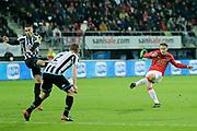 (L-R) *Joey Pelupessy* of Heracles Almelo, *Teun Koopmeiners* of AZ Alkmaar