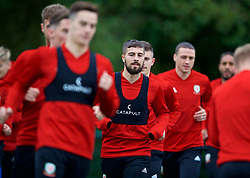 CARDIFF, WALES - Monday, October 15, 2018: Wales' Kieron Freeman during a training session at the Vale Resort ahead of the UEFA Nations League Group Stage League B Group 4 match between Republic of Ireland and Wales. (Pic by David Rawcliffe/Propaganda)