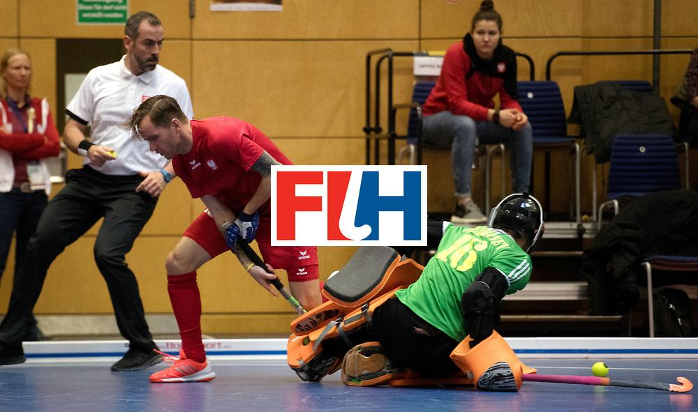 BERLIN - Indoor Hockey World Cup<br /> Kazakhstan - Poland<br /> foto: MIKULA Artur.<br /> WORLDSPORTPICS COPYRIGHT FRANK UIJLENBROEK
