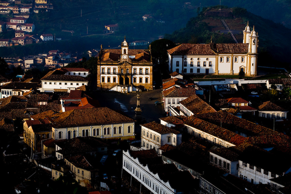 Ouro Preto_MG, Brasil...Vista panoramica de Ouro Preto, com destaque para a Praca Tiradentes...The panoramic view of Ouro Preto with Tiradentes square in detail...Foto: LEO DRUMOND / NITRO.