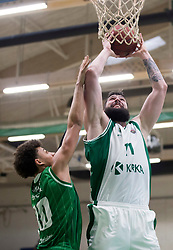 Ziga Dimec of KK Krka during basketball match between KK Krka Novo mesto and  KK Petrol Olimpija in 2nd Final game of Liga Nova KBM za prvaka 2017/18, on May 22, 2018 in Sports hall Leona Stuklja, Novo mesto, Slovenia. Photo by Urban Urbanc / Sportida