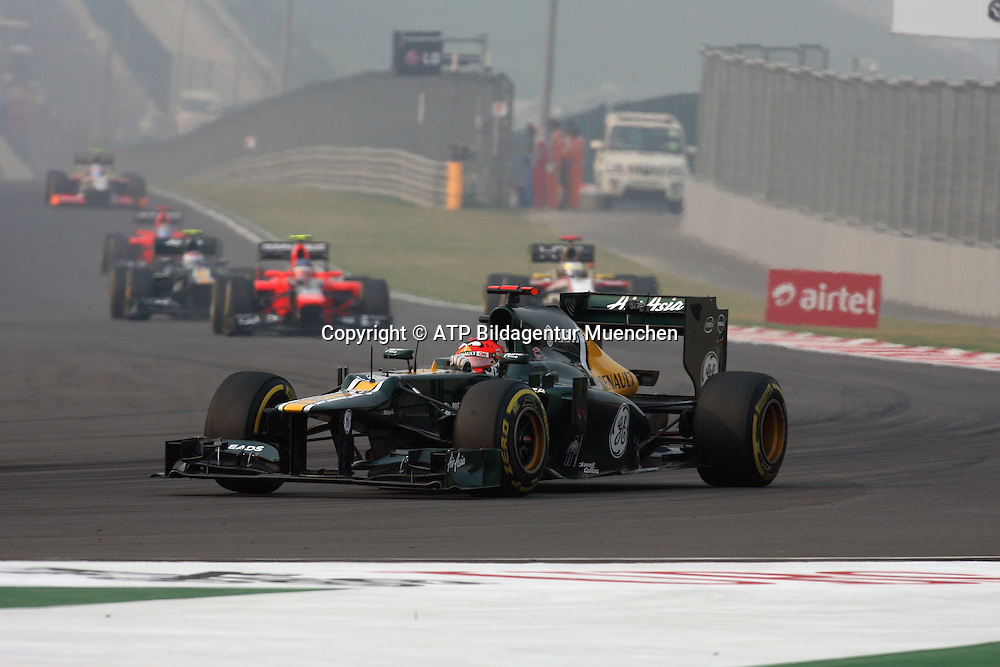 Heikki KOVALAINEN, Finland, Team CATERHAM F1  <br /> NOIDA, GP Formula 1 in INDIA near New Dehli, Formel 1 Grand Prix von INDIEN 28.10. 2012 - Rennen am BUDDH INTERNATIONAL Circuit F1  race  -  fee liable image - Photo Credit: &copy; ATP / THILL Arthur