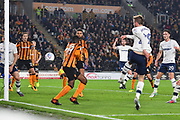 Preston North End forward Tom Barkhuizen (29) scores goal to go 0-1 during the EFL Sky Bet Championship match between Hull City and Preston North End at the KCOM Stadium, Kingston upon Hull, England on 26 September 2017. Photo by Ian Lyall.