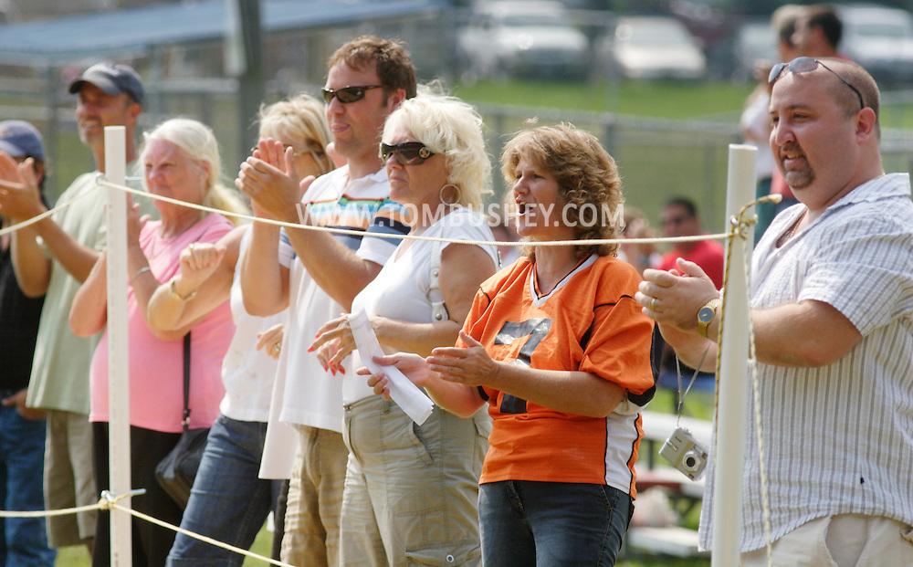 Middletown, NY - Marlboro fans cheer on the sideline during an Orange County Youth Football League game against Middletown at Watts Park  on  Sept. 9, 2007.