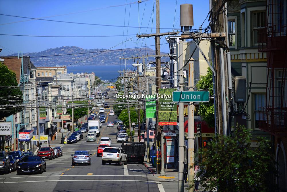 Union street in San Francisco, California.