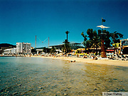 View of the beach in Ibiza 1999