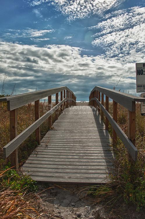 Walkway to beach, St. Petersburg Beach, Florida