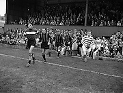 23/9/1959<br /> 9/23/1959<br /> 23 September 1959 <br /> Soccer, football: European Cup, Shamrock Rovers v Nice at Dalymount Park, Dublin. Teams exiting tunnel