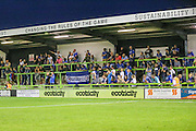 The Eastleigh supporters at the match during the Vanarama National League match between Forest Green Rovers and Eastleigh at the New Lawn, Forest Green, United Kingdom on 13 September 2016. Photo by Shane Healey.