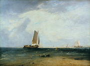 Fishing on the Blythe-Sands, Tide Setting In' exhibited 1809.  Joseph Mallord Willliam Turner (1775-1851) English artist. Oil on canvas.