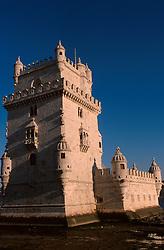 PORTUGAL LISBON MAY99 - The Torre de Belem, guarding the entrance to the port of Lisbon.....jre/Photo by Jiri Rezac....© Jiri Rezac 1999....Tel:   +44 (0) 7050 110 417..Email: info@jirirezac.com..Web:   www.jirirezac.com
