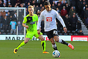 Derby County midfielder Tom Ince on the ball during the Sky Bet Championship match between Derby County and Huddersfield Town at the iPro Stadium, Derby, England on 5 March 2016. Photo by Aaron Lupton.