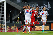 Mariano DIAZ MEJIA (Olympique Lyonnais) and Memphis DEPAY (Olympique Lyonnais) missed to score a goal, Abdoulaye DIALLO (STADE RENNAIS FOOTBALL CLUB), Edson MEXER (STADE RENNAIS FOOTBALL CLUB) during the French championship L1 football match between Rennes v Lyon, on August 11, 2017 at Roazhon Park stadium in Rennes, France - Photo Stephane Allaman / ProSportsImages / DPPI
