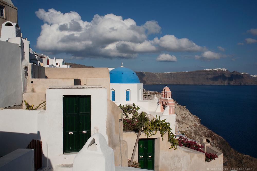 The village of Oia in Santorini. Greece