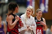 Head Coach Marianne Delaney-Hoshek of the Tactix celebrates with the team after the win. 2017 ANZ Premiership netball match, Northern Stars v Mainland Tactix at the Vodafone Events Centre, Auckland, New Zealand. 4 June 2017 © Copyright Photo: Anthony Au-Yeung / www.photosport.nz