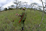 Local guard and guide at the Sweetwater Natural Reserve . Kenya