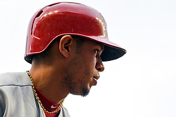 May 6, 2018 - Washington, DC, U.S. - WASHINGTON, DC - MAY 06:  Philadelphia Phillies second baseman Cesar Hernandez (16) comes up to bat during the game between the Philadelphia Phillies  and the Washington Nationals on May 6, 2018, at Nationals Park, in Washington D.C.  The Washington Nationals defeated the Philadelphia Phillies, 5-4.  (Photo by Mark Goldman/Icon Sportswire) (Credit Image: © Mark Goldman/Icon SMI via ZUMA Press)