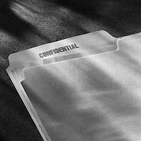 Confidential file folder