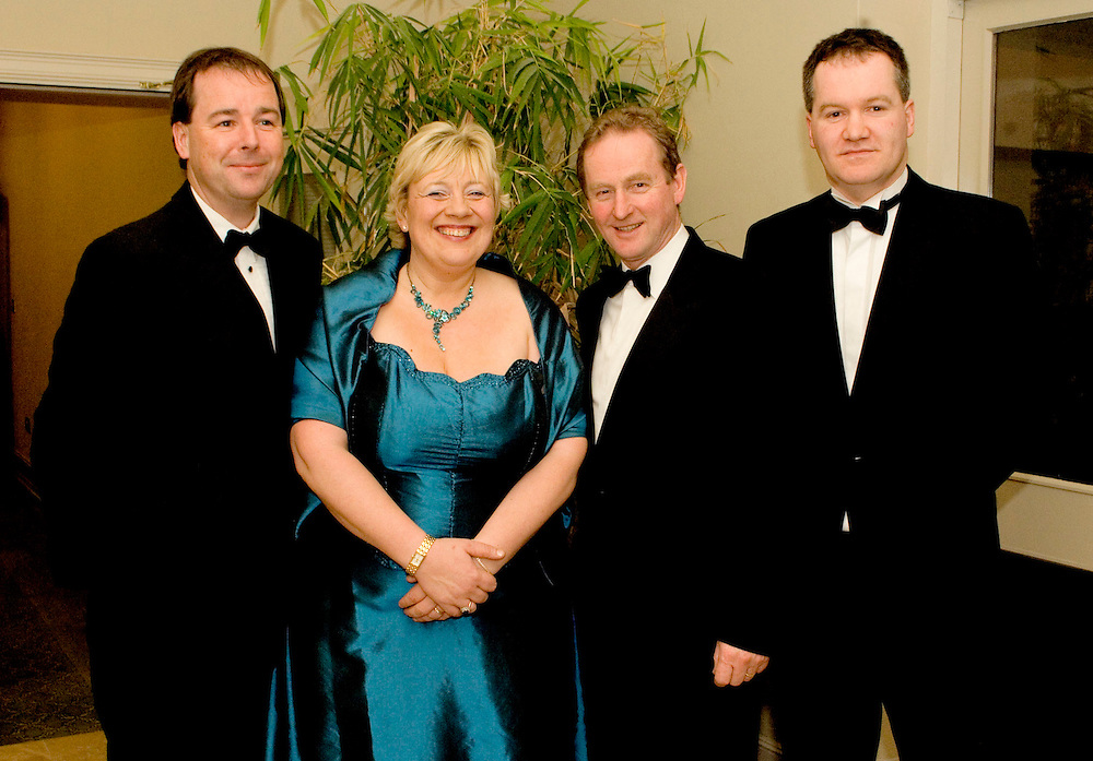 Pictured at the Cathoirleachs Awards at Knockranny House Hotel. L/R Cllr. Peter Flynn, Cathoirleach Treasa Mc Guire, Enda Kenny T.D. and Cllr. Myles Staunton. Pic: Michael Mc Laughlin