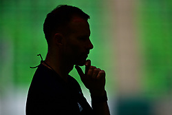 BUDAPEST, HUNGARY - Monday, June 10, 2019: Wales' manager Ryan Giggs during a training session ahead of the UEFA Euro 2020 Qualifying Group E match between Hungary and Wales at the Ferencváros Stadion. (Pic by David Rawcliffe/Propaganda)