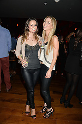 Left to right, KELLY EASTWOOD and JESSICA POWNALL at the opening party of MODE nightclub, 12 Acklam Road, London on 4th April 2014.