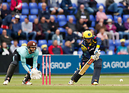 Glamorgan's Kieran Carlson<br /> <br /> Photographer Simon King/Replay Images<br /> <br /> Vitality Blast T20 - Round 14 - Glamorgan v Surrey - Friday 17th August 2018 - Sophia Gardens - Cardiff<br /> <br /> World Copyright &copy; Replay Images . All rights reserved. info@replayimages.co.uk - http://replayimages.co.uk