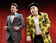 Burlesque<br /> at The Jermyn Street Theatre, London, Great Britain <br /> Press photocall <br /> 10th November 2011 <br /> <br /> Jon-Paul Hevey (as Johnny Reno)<br /> Chris Holland (as Rags Ryan)<br /> <br /> <br /> Photograph by Elliott Franks