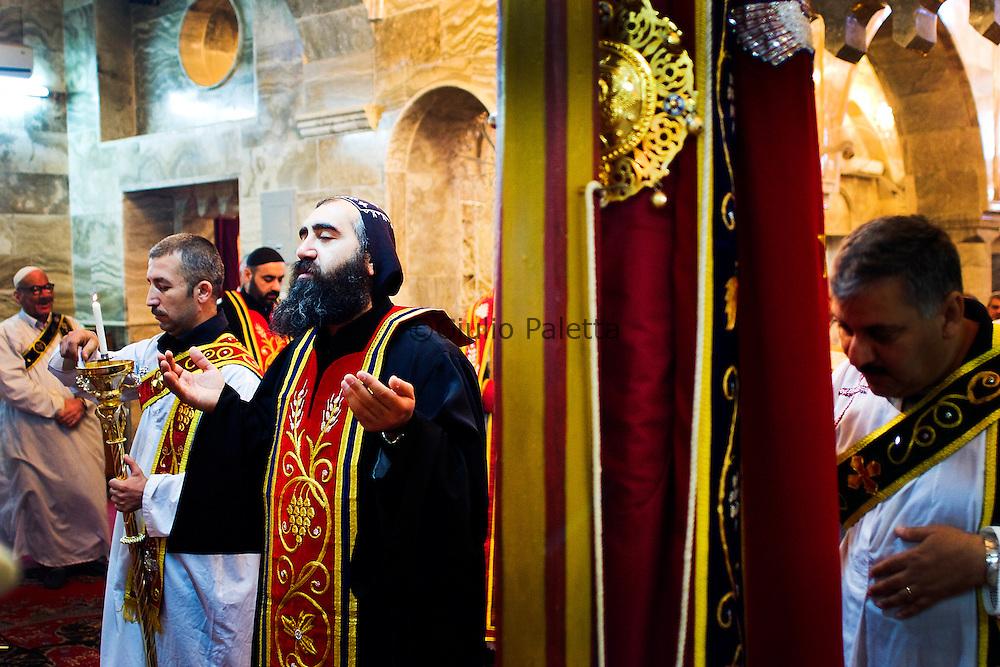 Bahzani, Mosul, Iraq: Mass celebration in Bahzani, Iraq