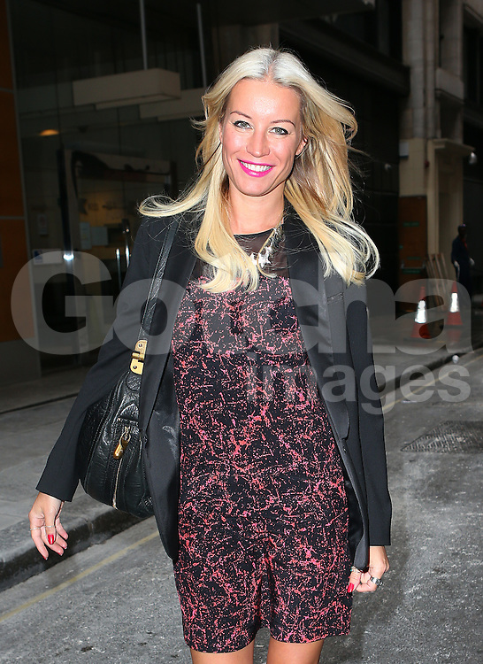 Denise Van Outen leaving Magic FM in central London, UK. 05/10/2013<br />