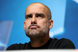 Manchester City manager Pep Guardiola during thr press conference at the City Football Academy, Manchester. PRESS ASSOCIATION Photo. Picture date: Monday October 16, 2017. See PA story SOCCER Man City. Photo credit should read: Martin Rickett/PA Wire