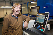 Brian Anderson, Unite Shop Steward, Remploy Print. Wythenshawe, Manchester...© Martin Jenkinson, tel 0114 258 6808 mobile 07831 189363 email martin@pressphotos.co.uk. Copyright Designs & Patents Act 1988, moral rights asserted credit required. No part of this photo to be stored, reproduced, manipulated or transmitted to third parties by any means without prior written permission