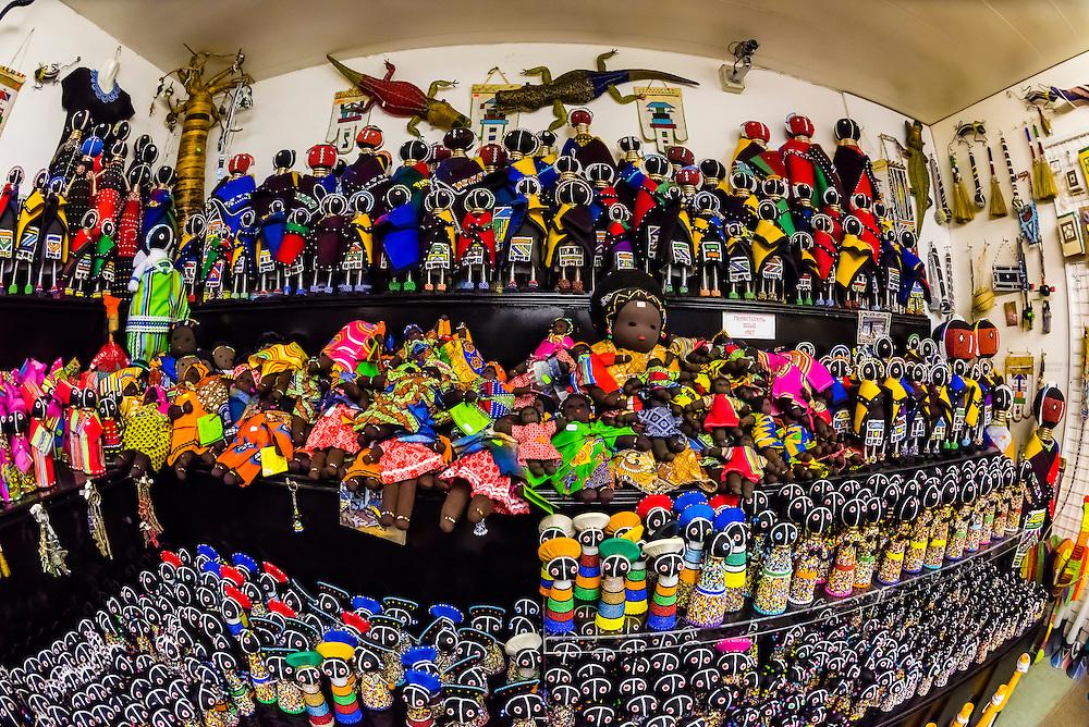 African handicrafts, Cambanos and Son Curio Centre, Johannesburg, South Africa.