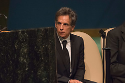 September 16, 2016 - New York, NY, United States - Three days before the opening of the United Nations high-level Summit on Addressing Large Movements of Migrants and Refugees (September 19), Actor Ben Stiller and former refugee celebrities presented a petition from the #WithRefugees campaign to the UN.  On behalf of the UN, Secretary-General Ban Ki-moon and UN High Commissioner for Refugees Filippo Grandi participated in the event. (Credit Image: © Albin Lohr-Jones/Pacific Press via ZUMA Wire)
