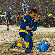 December 09, 2017: Navy Midshipmen wide receiver Ryan Mitchell (85) is visibly upset after the 118th edition of The Army-Navy game between The Army Black Knights and The Navy Midshipmen at Lincoln Financial Field in Philadelphia, PA.  The Army Black Knights defeat The Navy Midshipmen 14-13.  Mandatory Credit: Kostas Lymperopoulos/CSM, (Credit Image: © Kostas Lymperopoulos/Cal Sport Media)