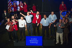 The 2017 SkillsUSA National Leadership and Skills Conference Competition Medalists were announced Friday, June 23, 2017 at Freedom Hall in Louisville. <br /> <br /> Aviation Maintenance Technology<br /> <br /> 	Rafal Bielecki<br />   High School	 Aviation Career &amp; Technical Education High School<br />   Gold	 Queens, NY<br /> Aviation Maintenance Technology	William Metzger<br />   High School	 Wichita Area Technical College<br />   Silver	 Wichita, KS<br /> Aviation Maintenance Technology	Daniel Bausch<br />   High School	 Tulsa Technology Center-Riverside<br />   Bronze	 Tulsa, OK<br /> Aviation Maintenance Technology	Alex Millikan<br />   College	 Guilford Tech Community College<br />   Gold	 Jamestown, NC<br /> Aviation Maintenance Technology	Edwin Diaz<br />   College	 Victor Valley College<br />   Silver	 Victorville, CA<br /> Aviation Maintenance Technology	Nathan Mendoza<br />   College	 Central New Mexico Community College<br />   Bronze	 Albuquerque, NM