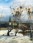 Rooks are back again by Alexei Kondratyevich Savrasov 1871