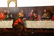 FLORENCE: restorer Rossella Rari's studio. the last supper