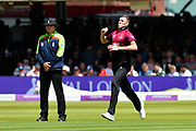 Craig Overton of Somerset bowling during the Royal London 1 Day Cup Final match between Somerset County Cricket Club and Hampshire County Cricket Club at Lord's Cricket Ground, St John's Wood, United Kingdom on 25 May 2019.